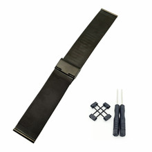 For Suunto Core Series Watch Milanese Strap High Quality Stainless Steel Watchband + Adapter + 2Pcs Tool stainless steel silver pvd black adapter for suunto core watches used to install the rubber nylon suunto core watchband