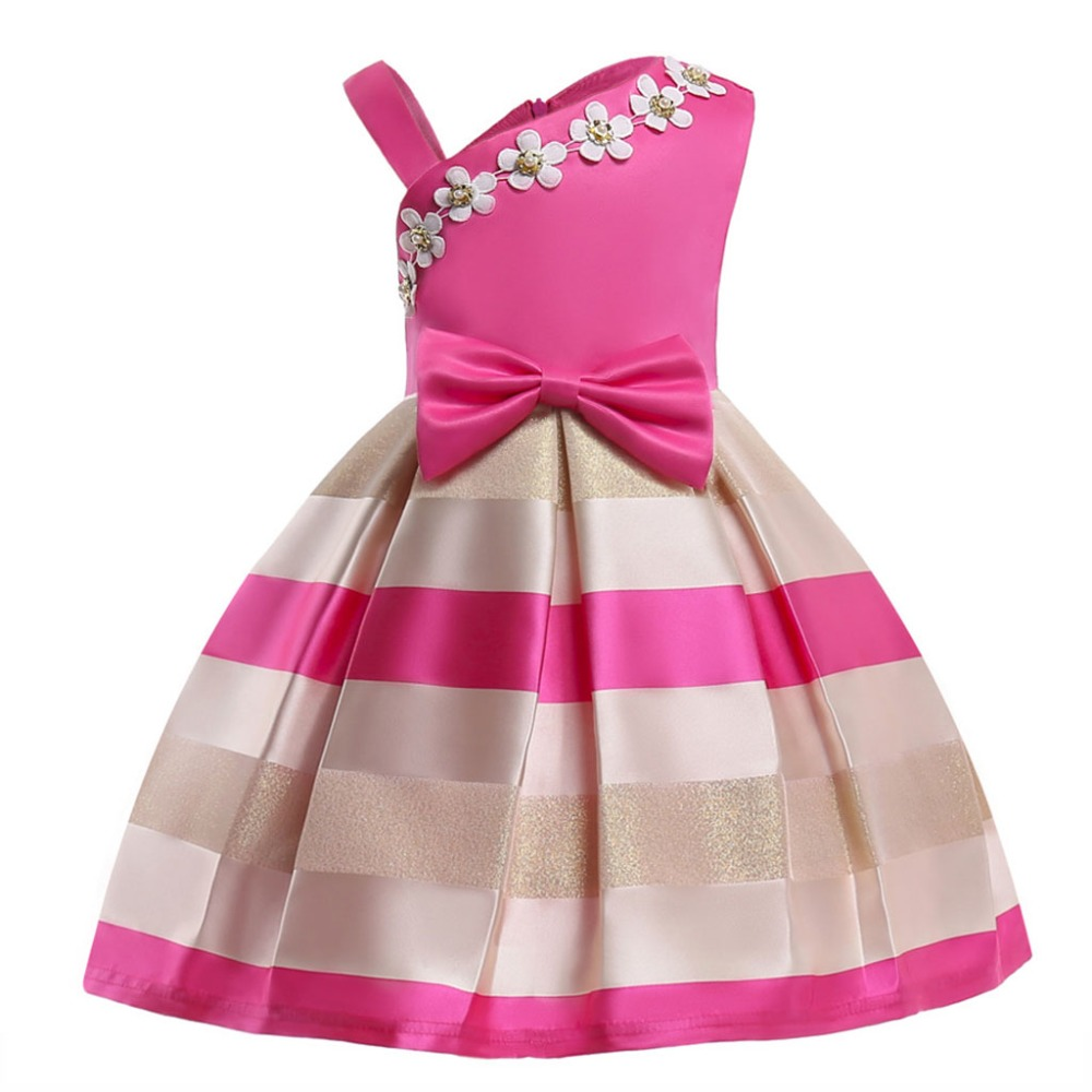 Girls floral Princess Party Dress Children Birthday Wedding clothes Summer Toddler baby Dresses 2 3 4 5 6 7 8 9 10 Kids Clothes sunny fashion girls dress birthday cupcake polka dot birthday princess 2018 summer wedding party dresses kids clothes size 3 8
