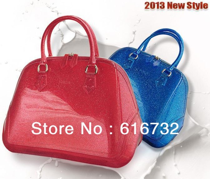 High Quality Transpa Glitter Jelly Candy Bags Women S Fashion Brand Designer Color Handbag Bag Purse Totes In Top Handle From