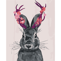 Frameless Anima Rabbit Oil Paint Painting By Number Diy Picture Drawing Coloring By Number On Canvas