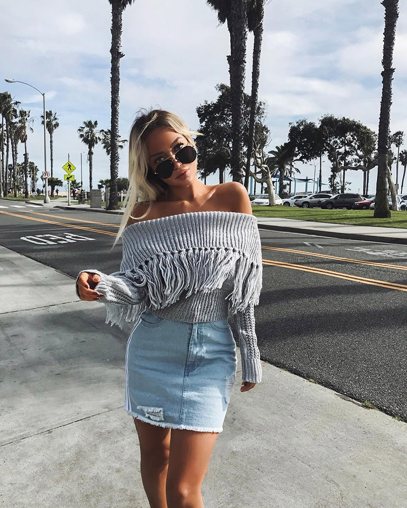 Off The Shoulder Sweater Women (10)