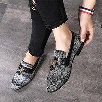 Men Wedding Dress Shoes Luxury Brand Tassels Flat Footwear Slip On Loafers Male Leather Oxford Shoes For Men Zapatillas Hombre