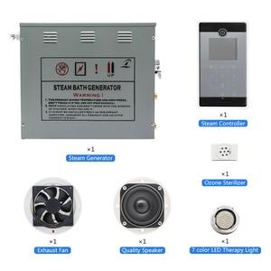 Image 2 - 240V 6KW Dusche Temperatur Sensor Display Dampf Sauna Generator Spa LCD Touch Bluetooth Dampf Controller Dampf Düse Outlet
