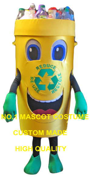 Recycle can mascot costume for adult trash can waste ash bin garbage can theme anime cosplay costumes carnival fancy dress 2854