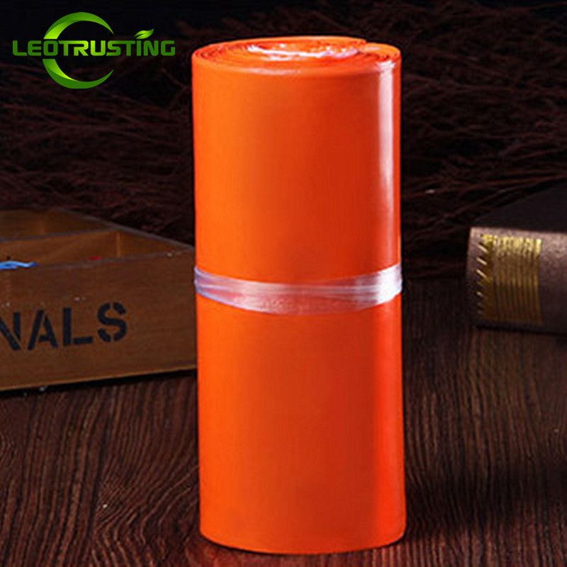Leotrusting Hot Orange Poly Mailer Adhesive Envelopes Bags Bolsa Courier Bags Plastic Mailing Gift Boxes Packaging Postal Bags