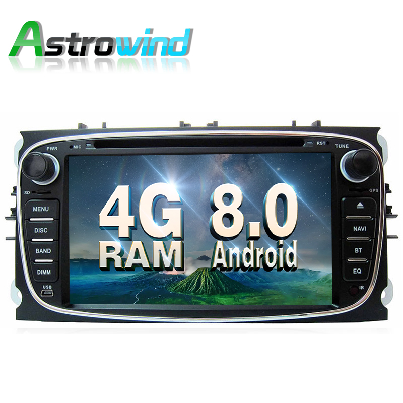 8 Core,4G RAM,32G ROM,Android 8.0 Car DVD Radio Stereo Media Player GPS For Ford Focus C-MAX S-Max Galaxy Mondeo Galaxy Kuga