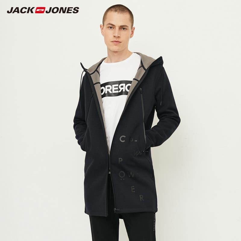 JackJones Men's Sports Style And Casual Hoodie Sweatershirt Hooded Coat Long Jacket Menswear 218333539