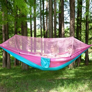 Image 5 - VILEAD Automatic Unfolding Hammock with Mosquito Stable Ultralight Portable Hiking Hunting Camping Cot Sleeping Bed 290*140 cm