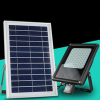8pcs/lot 6W Outdoor Solar Panel Motion Sensor LED Floodlight High Power Solar Street Light Garden Solar Light Projector Lamp