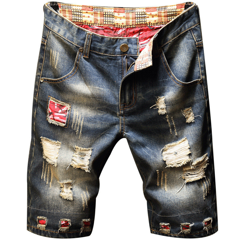 Mens Ripped Short Jeans Brand Clothing Bermuda Cotton Shorts Breathable Denim Shorts Male New Fashion Pants Size 28-40
