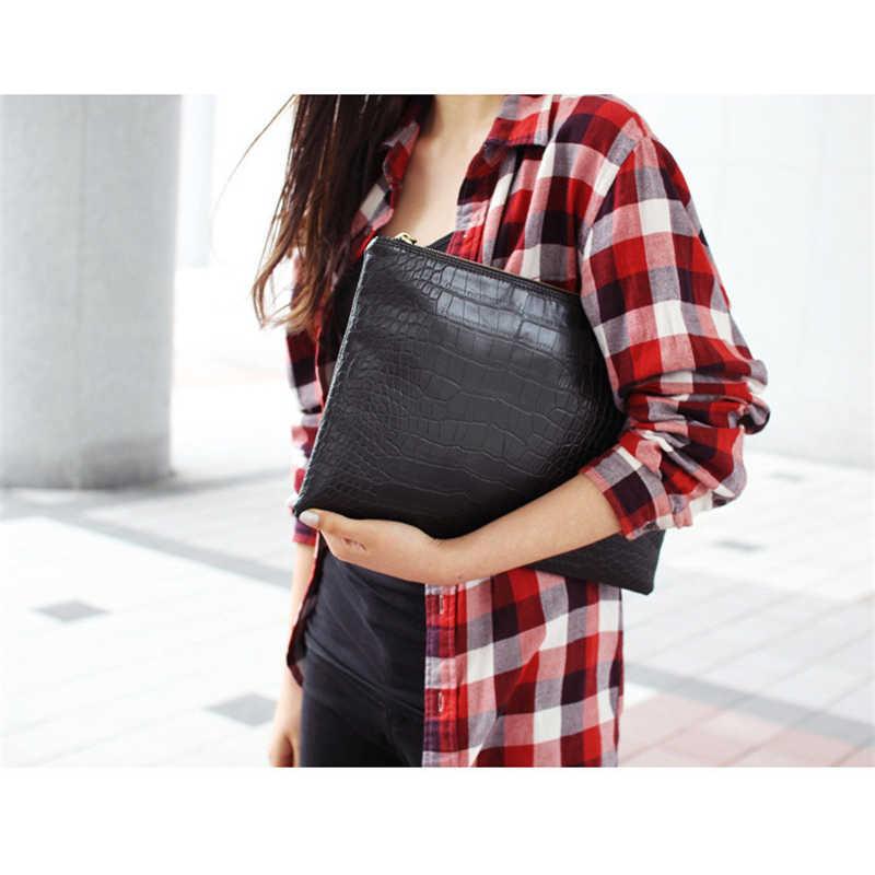 Xmessun Buaya Pola Clunth Fashion Wanita Amplop Clutch Bag Kualitas Tinggi Tas Crossbody Messenger Tas Wanita Clutch F199