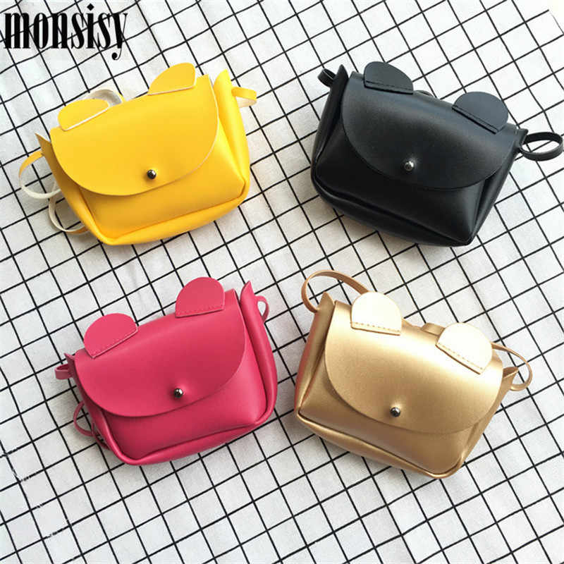 Monsisy Kawaii Kid Handbag Children Small Bag For Boy Baby Coin Purse Wallet Fashion Pu Leather Toddler Messenger Gift