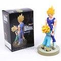 Escaparate Espectacular cuarta temporada de Dragon Ball Z Super Saiyan Vegeta y Trunks Figura de Colección Modelo de Juguete 21 cm