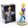 Vitrine Dramática quarta temporada De Dragon Ball Z Super Saiyan Vegeta e Troncos Figura Collectible Modelo Toy 21 cm