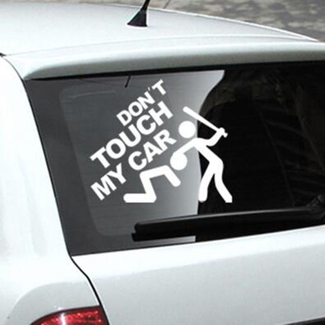 Dont touch my car car window truck auto wall home vinyl sticker decor gift