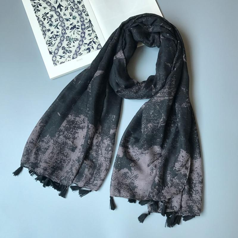 Ženy šátek Vintage módní hvězdy velké šátek měkký zábal teplý černý Sarong NEW [3035]  t
