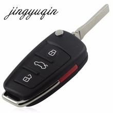 Jingyuqin Новый Repalcement случай 3 + 1 кнопки дистанционного Оболочки для Audi A6 a6l q7 Ключи пустой случай без логотипа