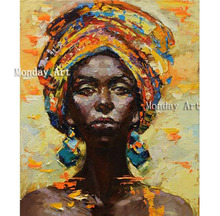 Handpainted Modern Abstract African woman portrait oil painting wall Decoration hand painted Sexy lady canvas pictures art