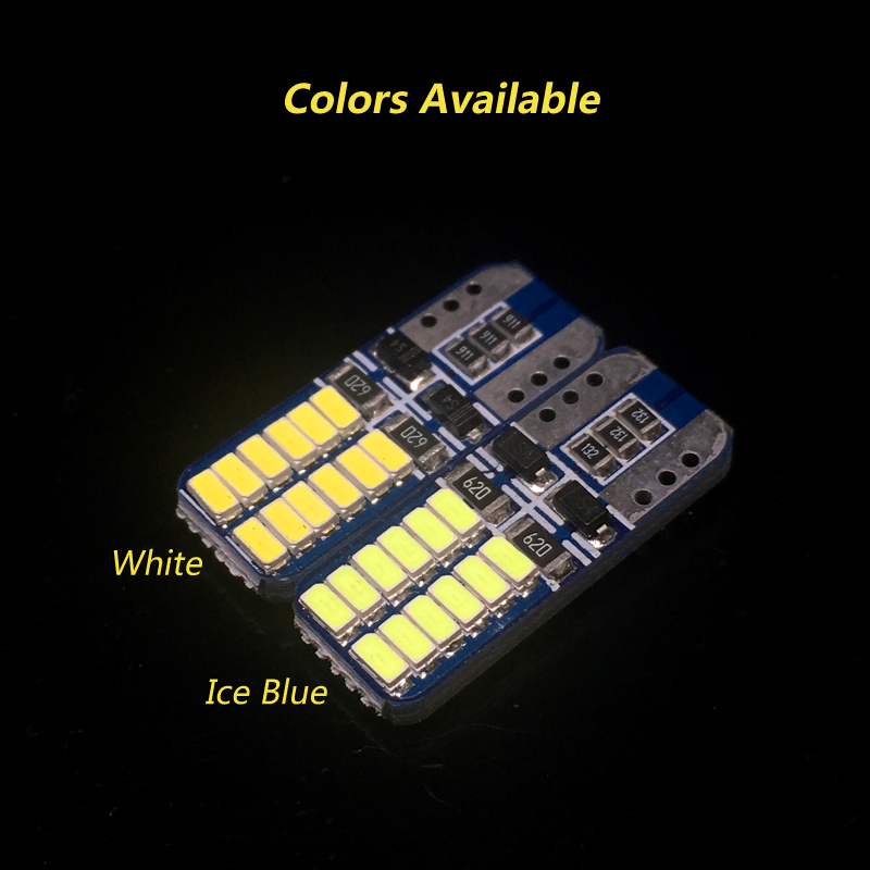 2x CANBUS No Error White Ice Blue T10 W5W Led 3014 Chip Light Bulb For Car Parking Position License Interior Dome Lights 12V in Signal Lamp from Automobiles Motorcycles
