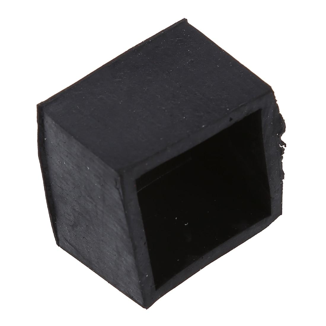 Practical 4 Pcs Black Chair Table Leg Rubber Foot Covers Protectors 28mm x 28mm