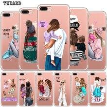 Модный чехол для телефона Super mom Dad Girl для iPhone 8 7 6 6S Plus X XS MAX XR 10 мягкий силиконовый чехол Etui