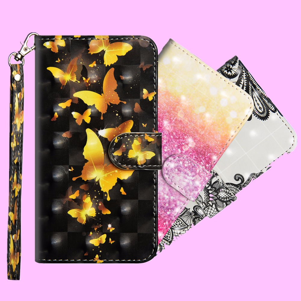 For <font><b>Alcatel</b></font> U5 4G Case 3D Painting Flip Case For <font><b>Alcatel</b></font> U5 4G 5044D 5044Y <font><b>5044T</b></font> Cover 5.0