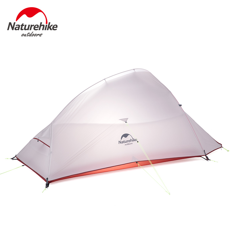 2018 New CloudUp UPGRADED 2 Person NatureHike Tent 20D Silicone Fabric Double-layer Camping Tent Lightweight NH15T002-T-U naturehike factory sell 1 person 2 person 3 person tent green 20d silicone fabric double layer camping tent lightweight