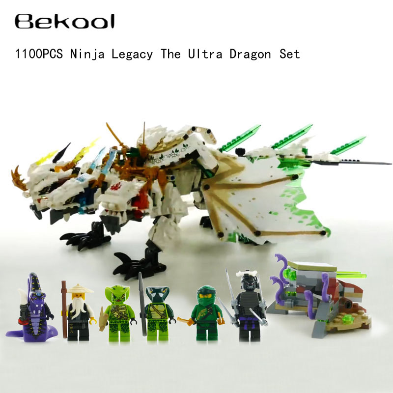Ninjaes Legacy The Ultra Dragon kit Brick toys Lloyd Wu Pythor Compatible 70679 building Block children
