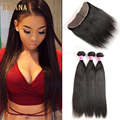 Brazilian Straight Hair With Frontal Closure 3 Bundles Brazilian Hair Weave Bundles With Frontal Spring Queen Hair With Frontal