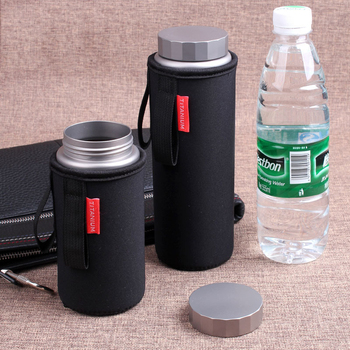 Pure titanium sports bottle large capacity healthy portable hand cup titanium cup outdoor sports portable cup 400 ml