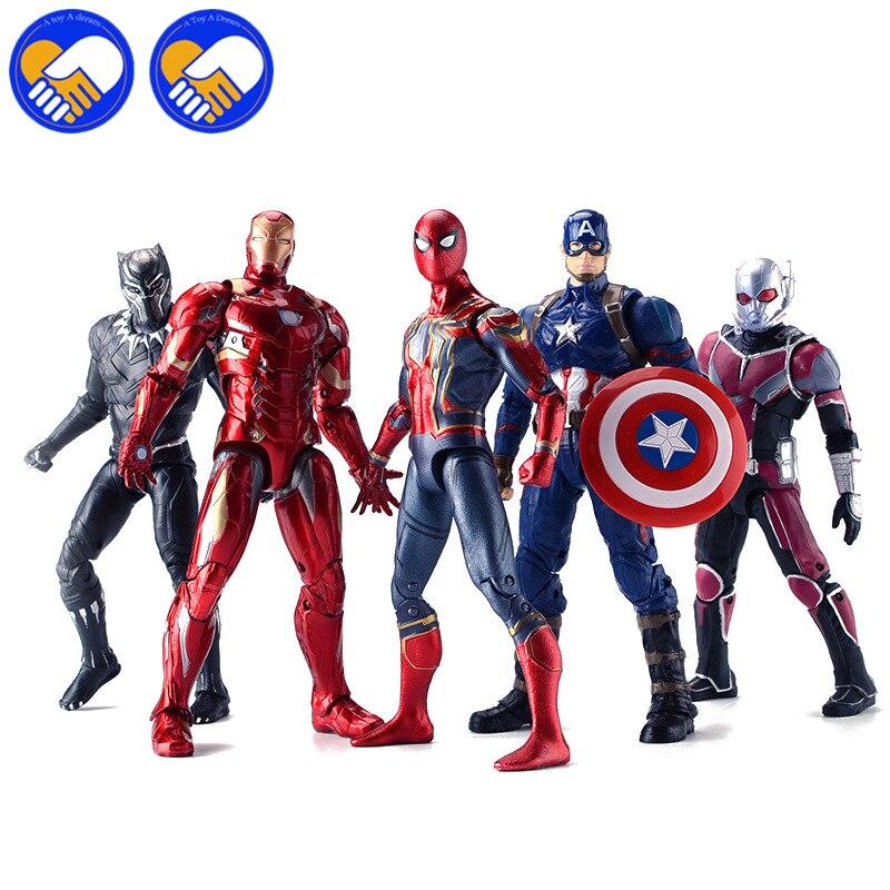 Marvels Avengers 3 Infinity War Hulks Iron Man Spiderman Captain America Antman Falcon Black Panther PVC Action Figure Kids Toys