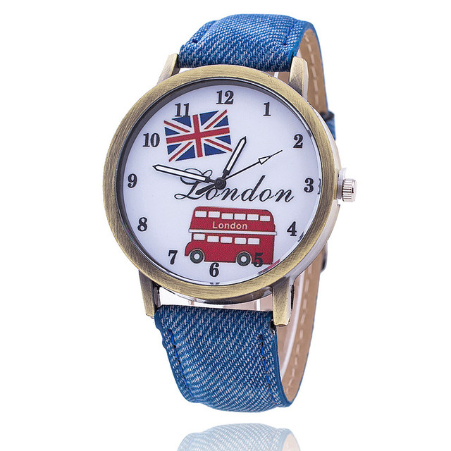Dropshipping Fashion Union Flag London Bus Watch Fashion Casual Women Wristwatch