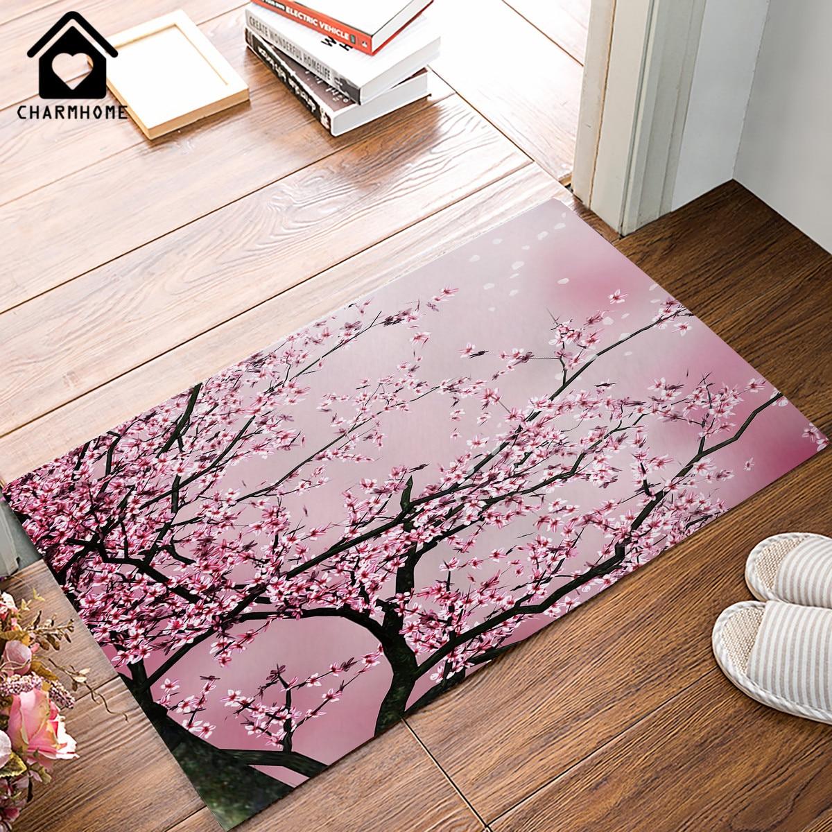 Carpets Door Mats Pink Cherry Blossom