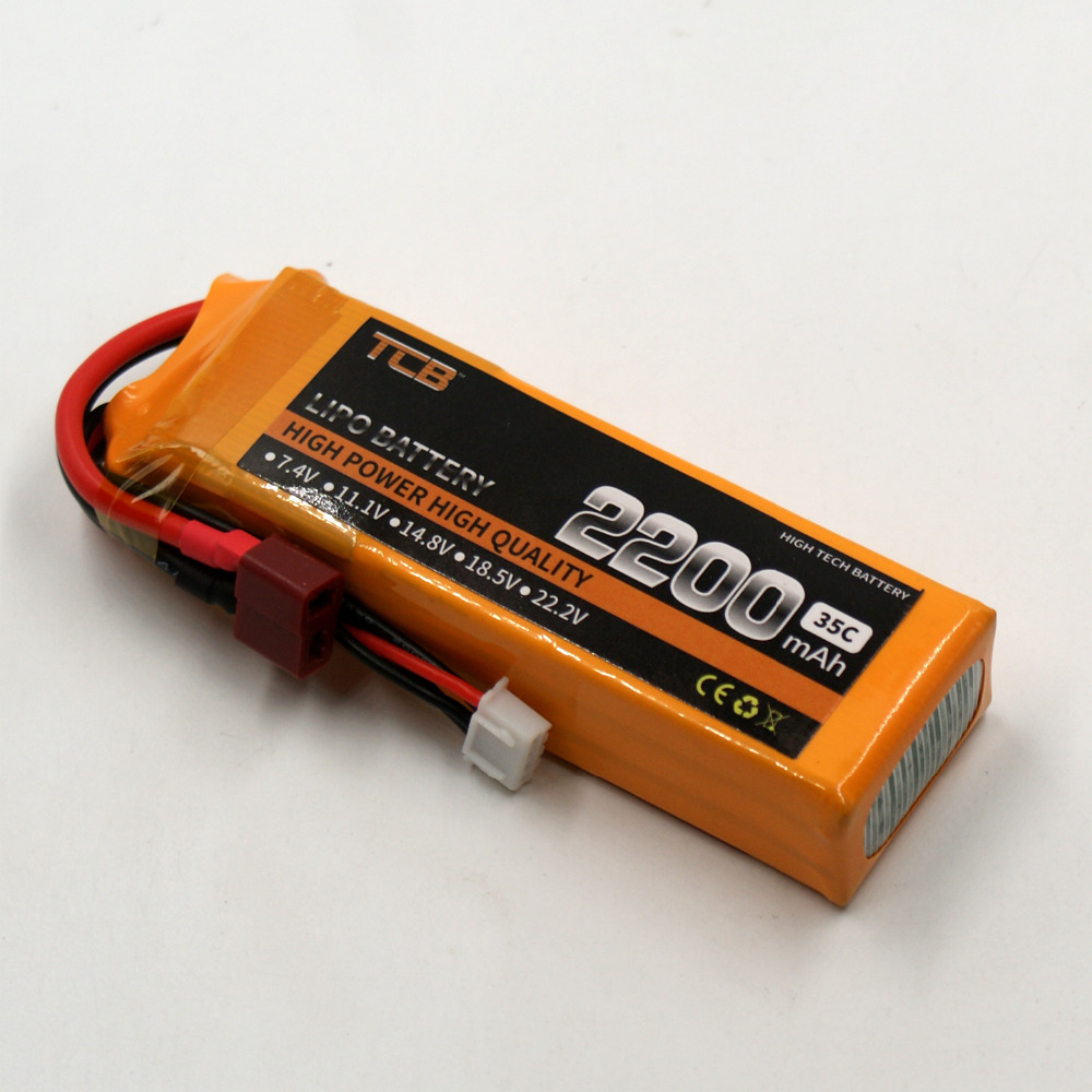 TCB RC lipo baterii 11.1 v 2200mAh 35C-70C 3S RC Samolot Trex-450 - Zabawki zdalnie sterowane - Zdjęcie 3