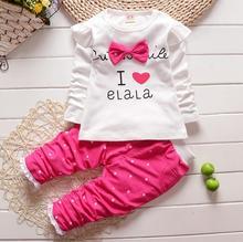 sale Spring Autumn Fashion Kid Girls Clothing Set toddler infant outfit Cotton T-Shirt +Pant Suit Children Clothes Tracksuit set