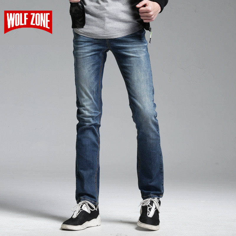 Special Offer   Jeans   Men Famous Brand Masculino Distressed Pants Mens Biker Solid Mid Full Length Cotton Designer Summer Casual
