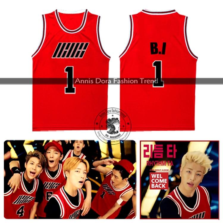 Ikon Debut Full Album Welcome Back B.i Bobby Rhythma Ta Mv Number Same Style Red Baseball Vest