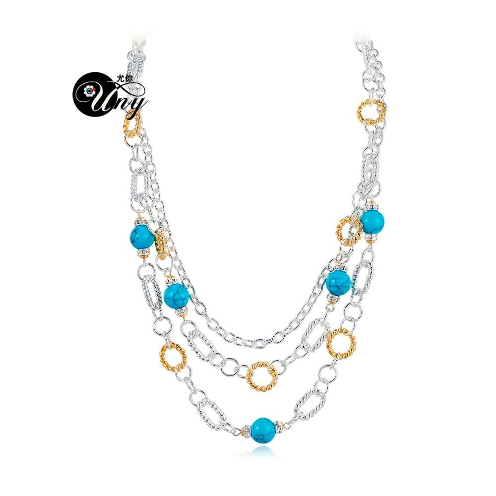 UNY oblikovalec ogrlice modni navdih nosorogovo klasično ogrlico eleganten vintage ogrlice kabel ogrlica žica trendy nakit