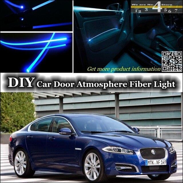 Para Jaguar XF Afinação De Luz Ambiente Interior Atmosfera Luzes Faixa De  Fibra Óptica Não Porta