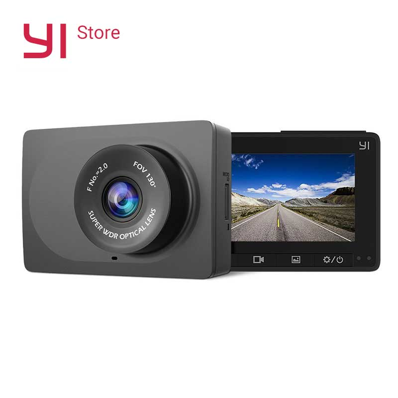 YI Compact Camera 1080p Full HD Car Cam Recorder Dash board with 2 7 inch LCD