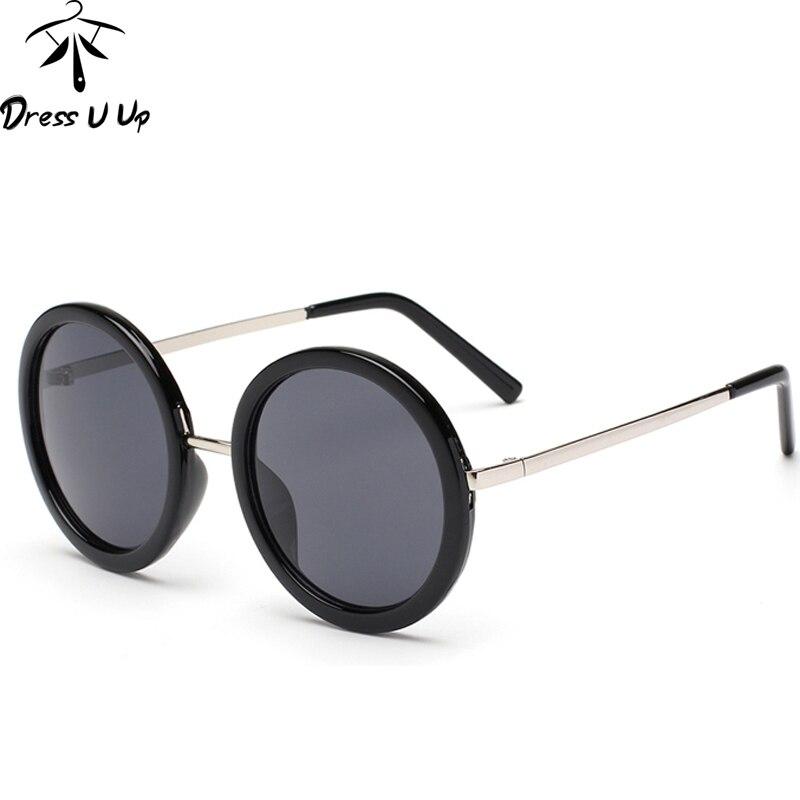 DRESSUUP Nouveau Rétro Ronde Lunettes De soleil Femmes Marque Designer Vintage Lunettes de soleil Femmes Revêtement Oculos De Sol Gafas lunette de soleil