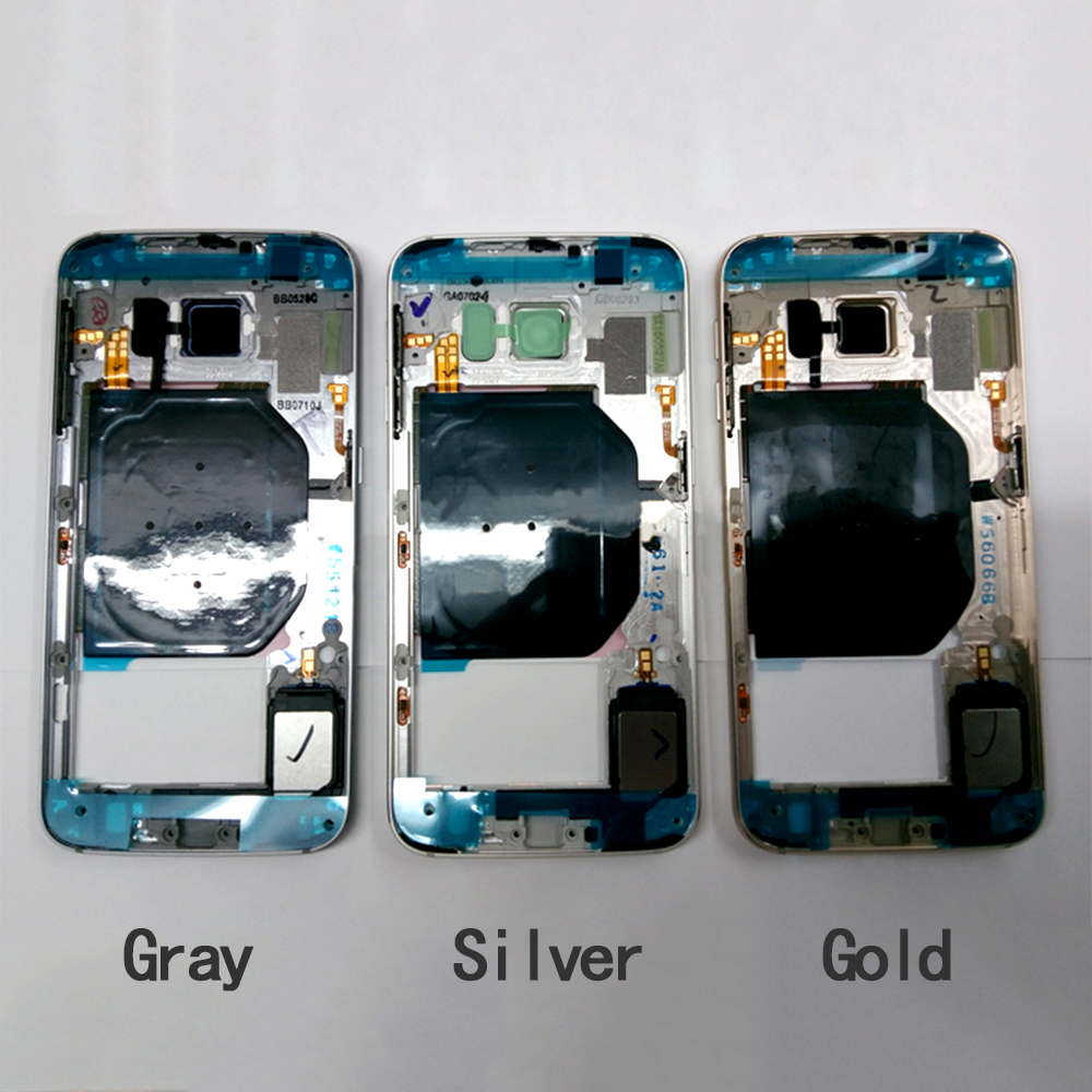 5551de643a8138 New Original Middle Plate Frame Housing Replacement for Samsung Galaxy S6  G920F