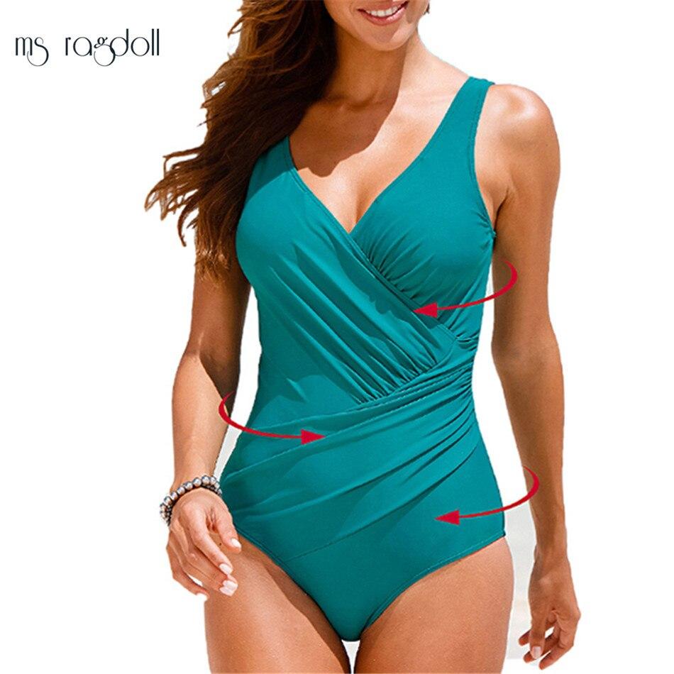 Plus Size Լողազգեստներ Կանայք 1 Մի կտոր - Սպորտային հագուստ և աքսեսուարներ - Լուսանկար 4