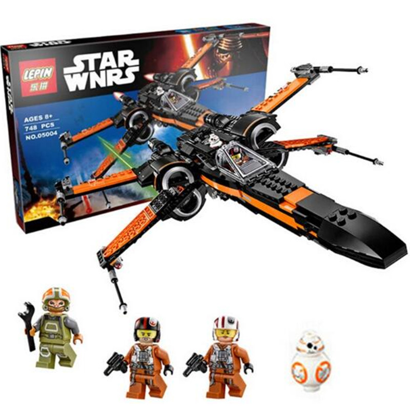 05004 LELE 79209 Star Wars First Order Poes X-wing Fighter Building Blocks Compatible with Star Wars Bricks Toy Gift