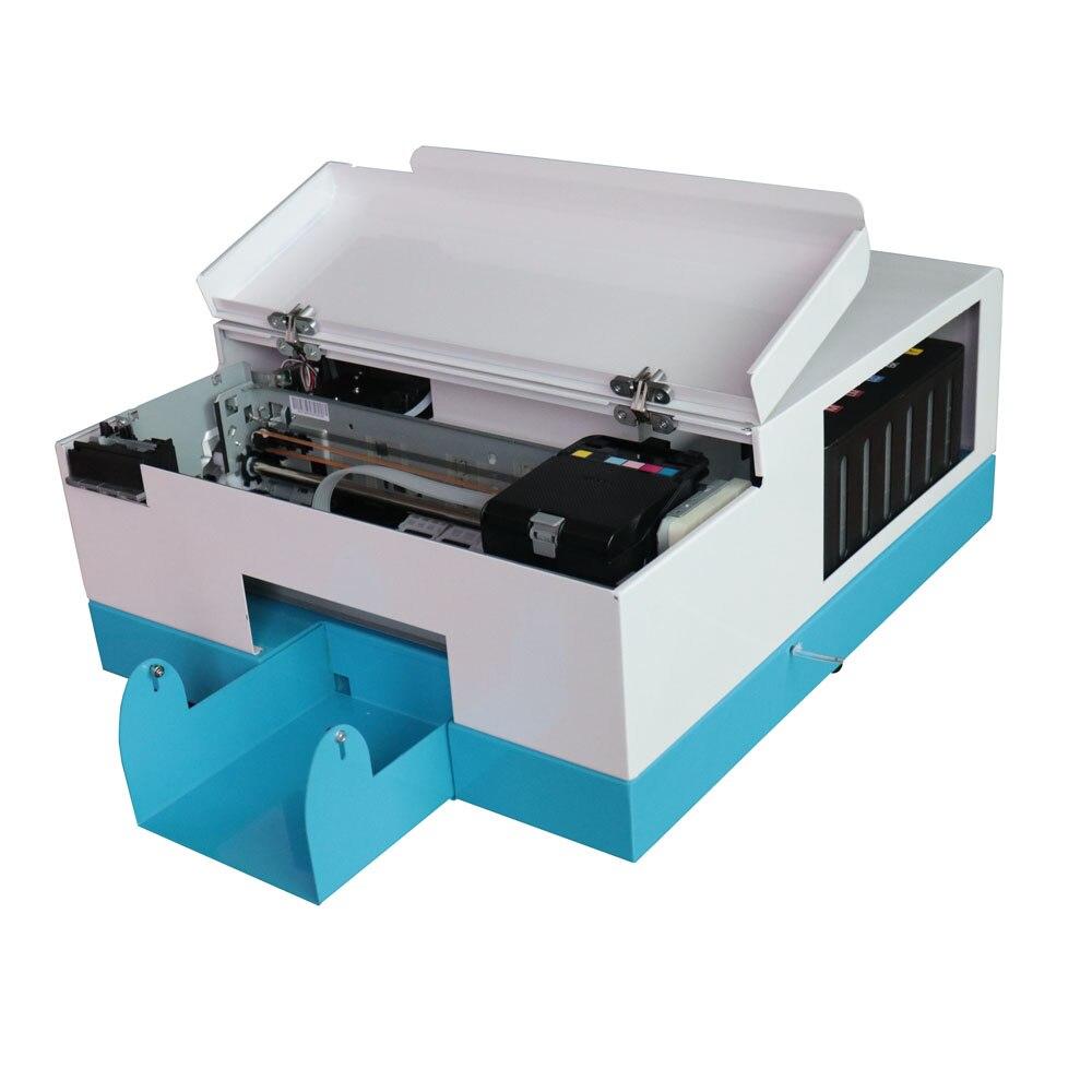 Обновление Автоматический для PVC карт принтер для 86*54 мм 70*100 80*110 мм 102*148 мм ПВХ для струйной печати id машина для печати карт с программным обе
