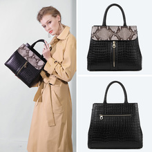 QIWANG Shoulder Top-handle Bags Gneuine Cow Leather Tote European Stylish Small Women Flap Handbag 2019 Black Lady Hand