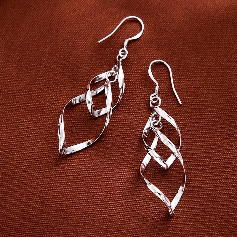 925 ստերլինգ արծաթե կաթիլ ականջողներ - Նուրբ զարդեր - Լուսանկար 2
