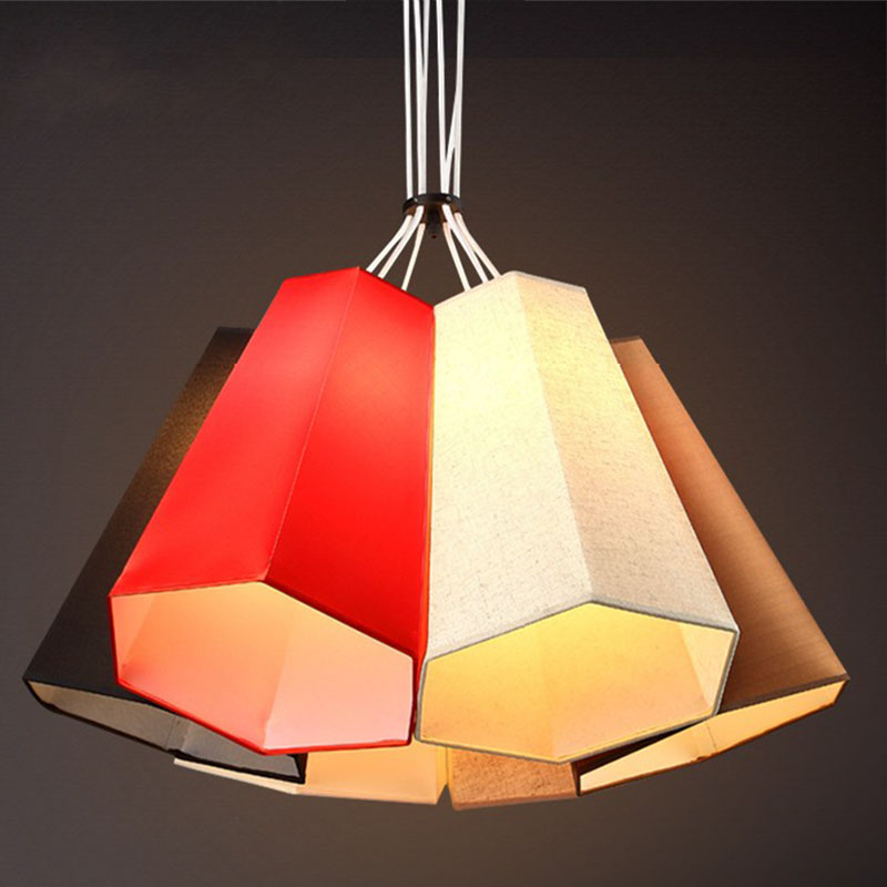 Nordic modern compact pendant lights heads creative personality bedroom lamp American study balcony fabric pendant lamp ZA nordic modern compact pendant lights heads creative personality bedroom lamp american study balcony fabric pendant lamp za fg932