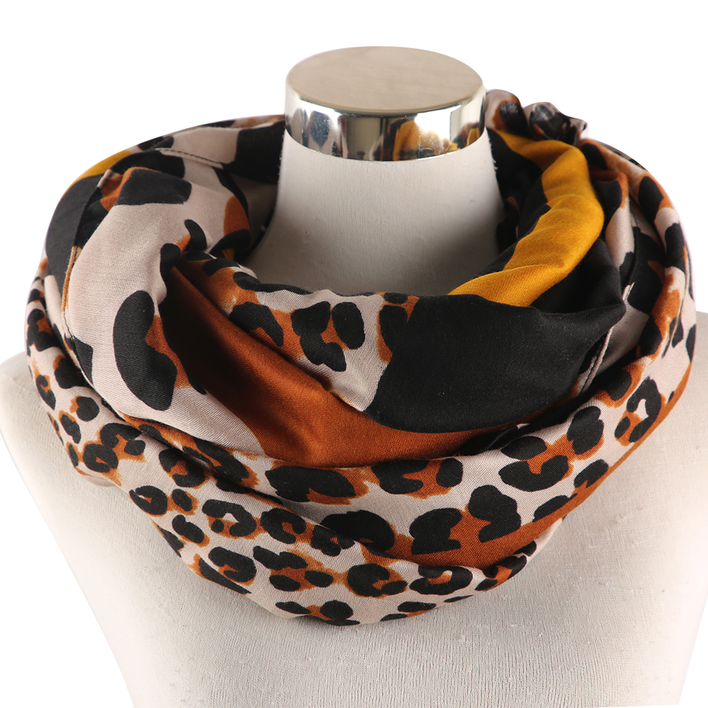 Winfox Fashion Patchwork Animale Scarves Shawls Women Pink Red Leopard Scarf Female Stoles in Women 39 s Scarves from Apparel Accessories