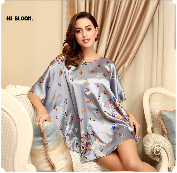 ΞFashion Silk Maternity Robe Bathrobe Women Faux Silk Robes Sleep ...